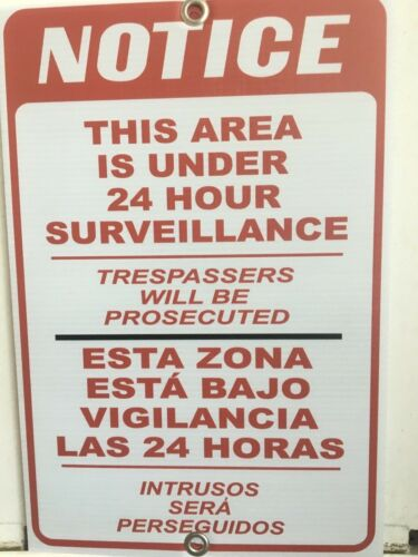 10 NOTICE Surveillance sign  1218-COR X-01