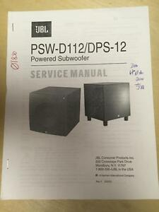 jbl service manual for the psw d112 dps 12 subwoofers mp ebay rh ebay com JBL Subwoofer JBL PSW D112 Manual