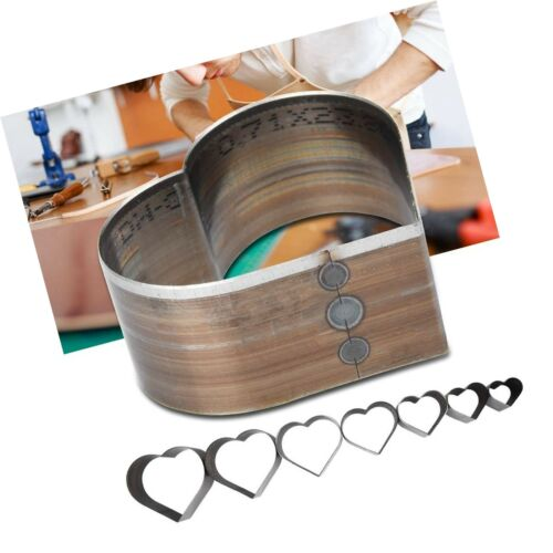 7pcs Hole Hollow Cutter 20-50mm One Hole Hollow Mold Heart Shaped Leather Pun...
