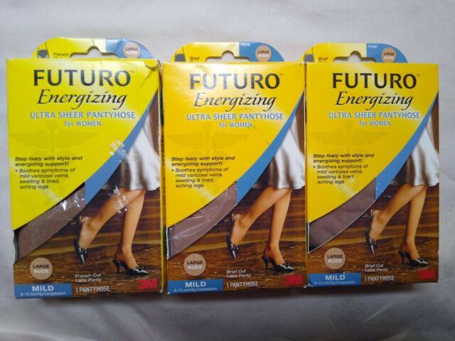 FUTURO Energizing Ultra Sheer Pantyhose French Cut Lace