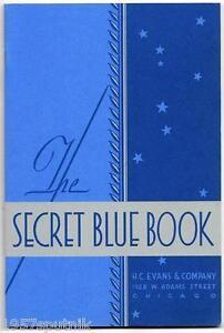 11-H-C-Evans-1932-Secret-Blue-Book-1978-Reprint-Catalogs-Slots-amp-Gambling-Items