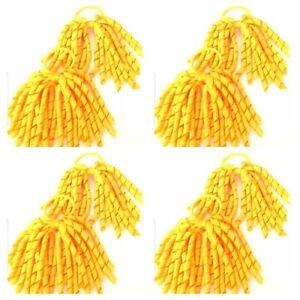 Handmade Girls Green School Long Korker Hair Bobbles Sold In Pairs