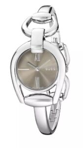 018f03ae4f629f Image is loading NEW-Gucci-Horsebit-Collection-Brown-Dial-Stainless-Steel-