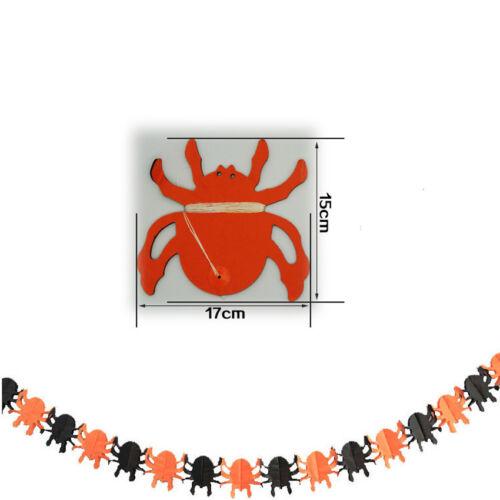 Happy Halloween Paper Bunting Pumpkin Skull Banner Pennant Garland Party Decor