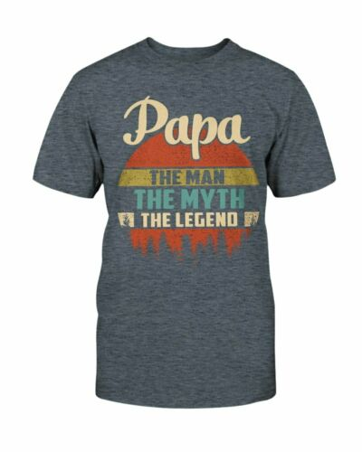 Papa The Man Myth Legend T-Shirt For Dad Father Grandpa Men Gifts Vintage Tee