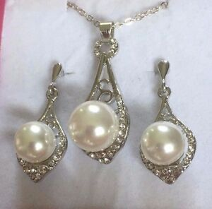 Image Is Loading Se White Pearl Gold P Matching Pendant