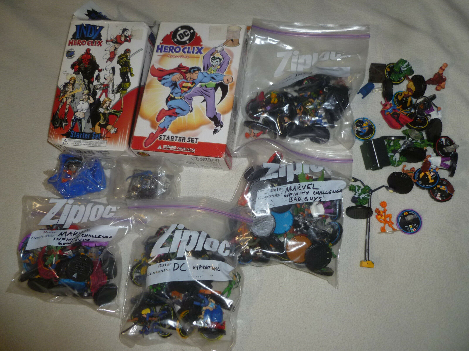 Lote de Heroclix Hero Clix Figura Juguete Marvel Infinity desafío Indy DC Hypertime