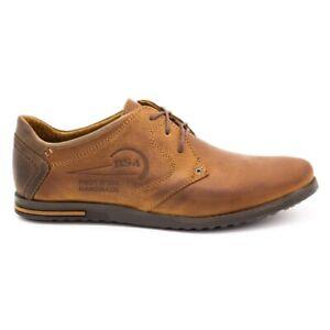 Polbut Chaussures en cuir homme 2103 camel brun