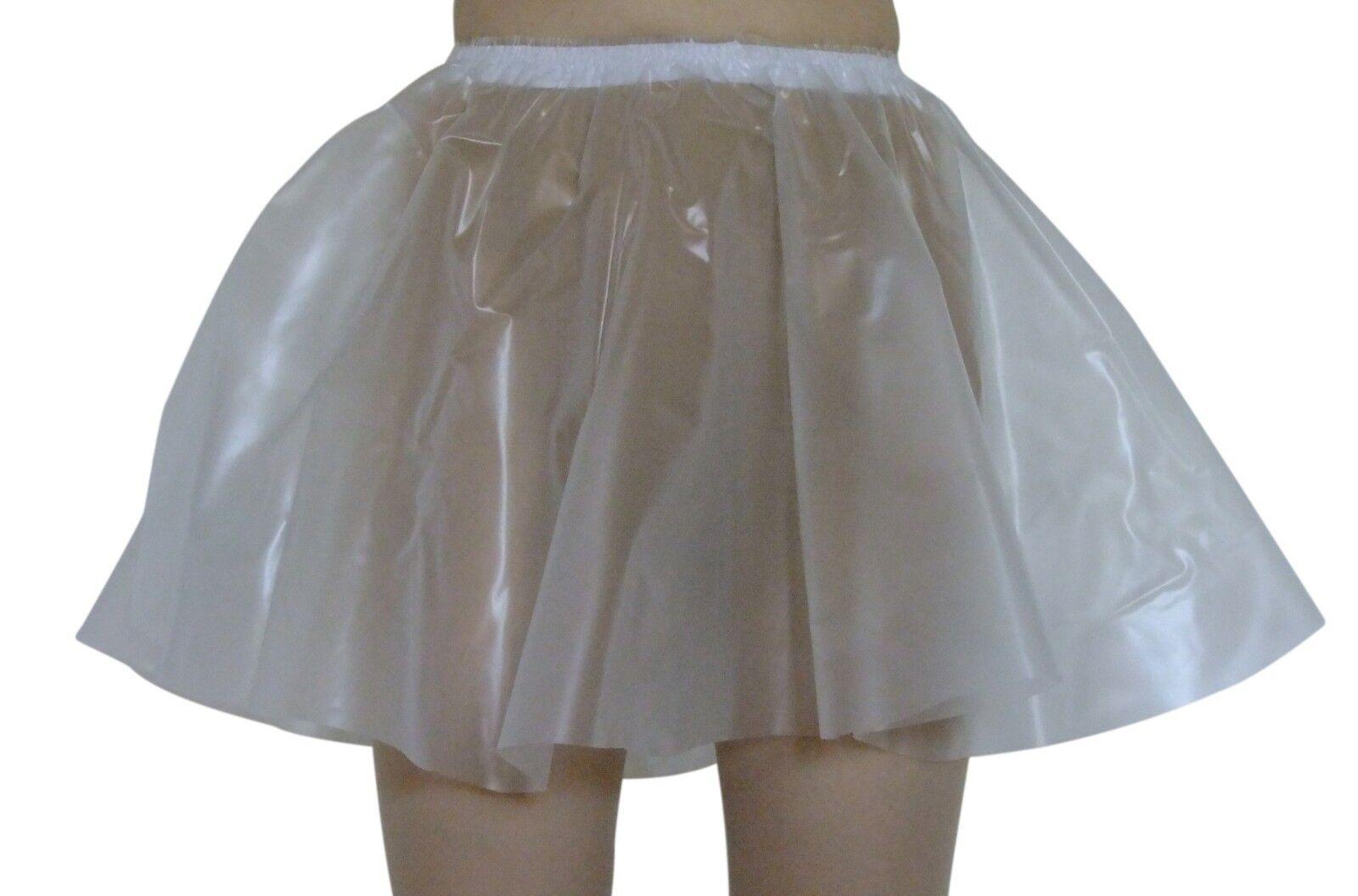 PVC Circle Skirt  Large Semi clear Transparent  Plastic Vinyl  Sissy Flared Full