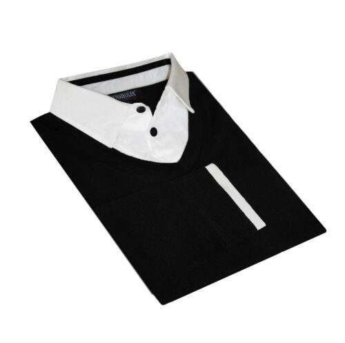 a V Pullover Ugholin uomo 2 1 manica nero con da in bianca scollo lunga qSSaT