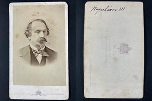 Le Jeune, Paris, Empereur Napoléon III Vintage cdv albumen print Tirage albu