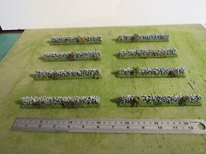Wargames 15mm//20mm DRYSTONE WALLS Flames of war 8 15cm sections