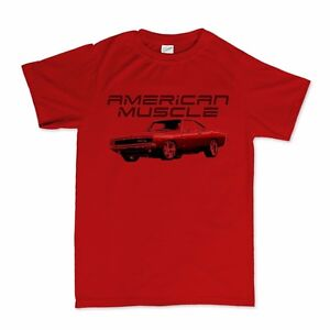 American muscle 70s dodge charger classic car t shirt ebay for All american classic shirt