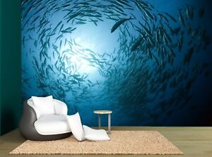 Fish Sea Blue Underwater Ocean Wall Mural Photo Wallpaper Giant Wall