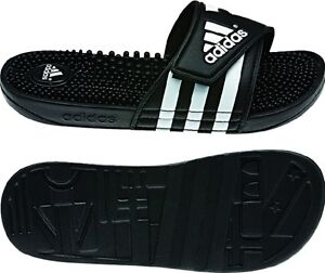 more photos a4011 afca3 Image is loading Womens-Adidas-Adissage-Black-Slides-Shower-Sandal-Athletic-