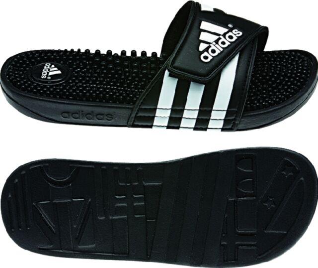 3ecf81180 Womens Adidas Adissage Black Slides Shower Sandal Athletic Sport 087609 Sz 5 -10