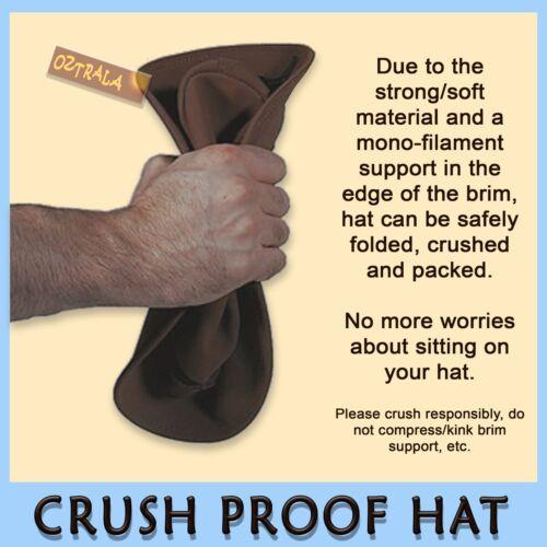 ~oZtrALa~ KANGAROO Leather JACARU Hat Cowboy Outback Mens DrizaBone AUSTRALIAN ~