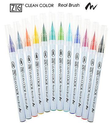 Choose from 2 Pack sizes Dual Tipped Brush Kuretake Zig CALLIGRAPHY Pens