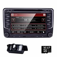7 Dvd Gps Navigation System Car Video Unit 2din Stereo Radio Usb Can-bus For Vw