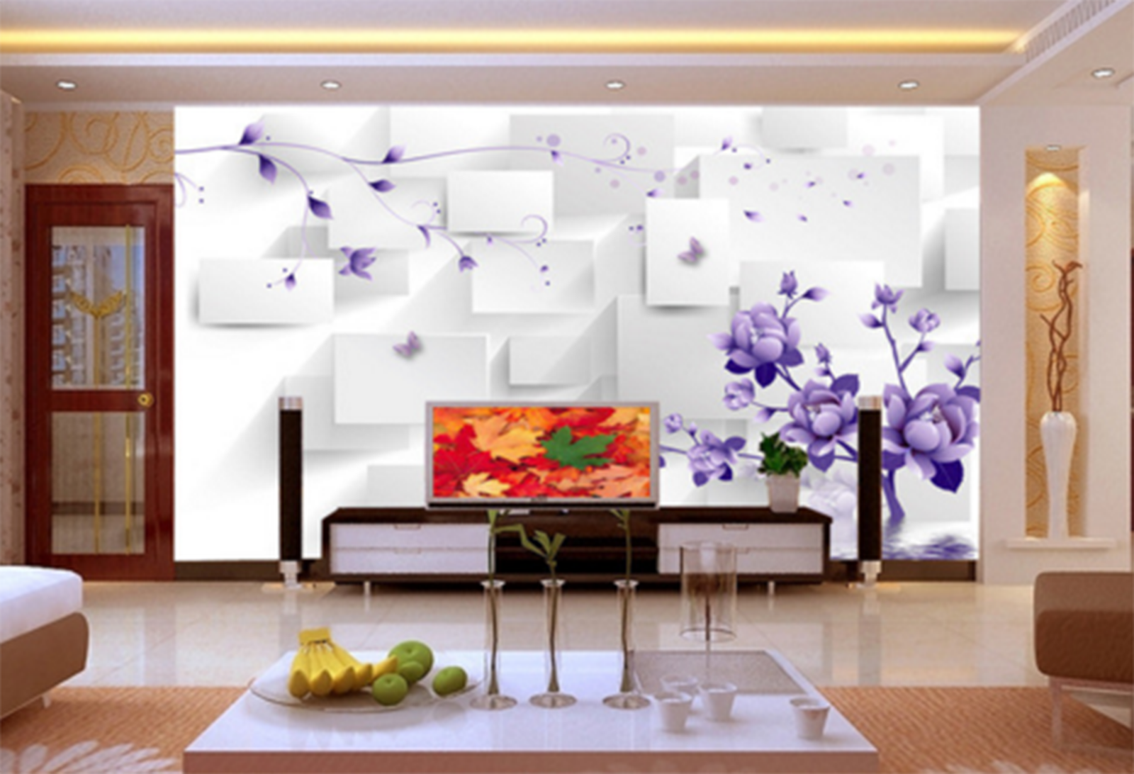 3D lila Flower Tree 663 Paper Wall Print Wall Decal Wall Deco Indoor Murals