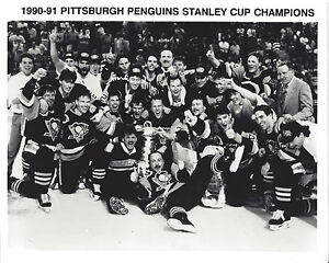 PENGUINS-1990-91-STANLEY-CUP-CHAMPS-CELEBRATION-8X10
