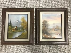 Pair-of-Vintage-Original-Oil-paintings-by-Bennett-13-x-15-Signed