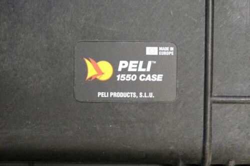 Noir NEUF Peli Case 1550 Sans Mousse