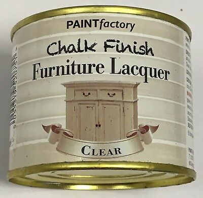 1 x 200ml Shabby Chic Effect Chalk finish Furniture Lacquer Clear