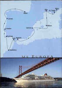 Schiff-Ship-Postkarte-Hapag-Lloyd-Schiff-MS-EUROPA-Kreuzfahrt-Nizza-gt-Bilbao-2008