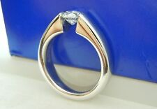 AGS CERTIFIED .58CT F/SI1 Round Diamond Ring Same Company Hearts on Fire uses!