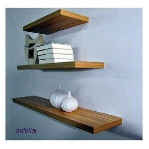 3pcs Solid Floating Shelf Set Wall Shop Display Conceal Fitting Mat