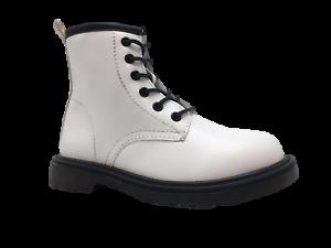Bottines-Bottes-Chaussures-Rangers-Fille-a-Fermeture-Eclair-Et-Lacets-Mode-Noir