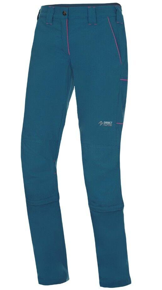 Direct Alpine Sierra Zip-Off Pant Ladies Broers met Zip-off funcBinden Petrol Rose S