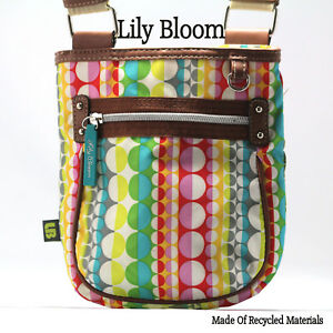 Image Is Loading Lily Bloom Crossbody Shoulder Purse Stripes Circles Made
