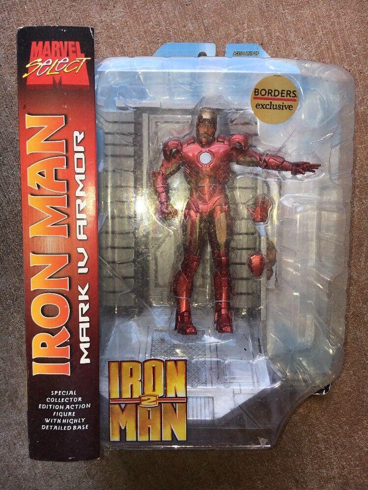 Iron Man 2 Mark 4. Select Diamond Select 4. Toys. (Marvel Select) Borders Exclusive NEW aaeff4