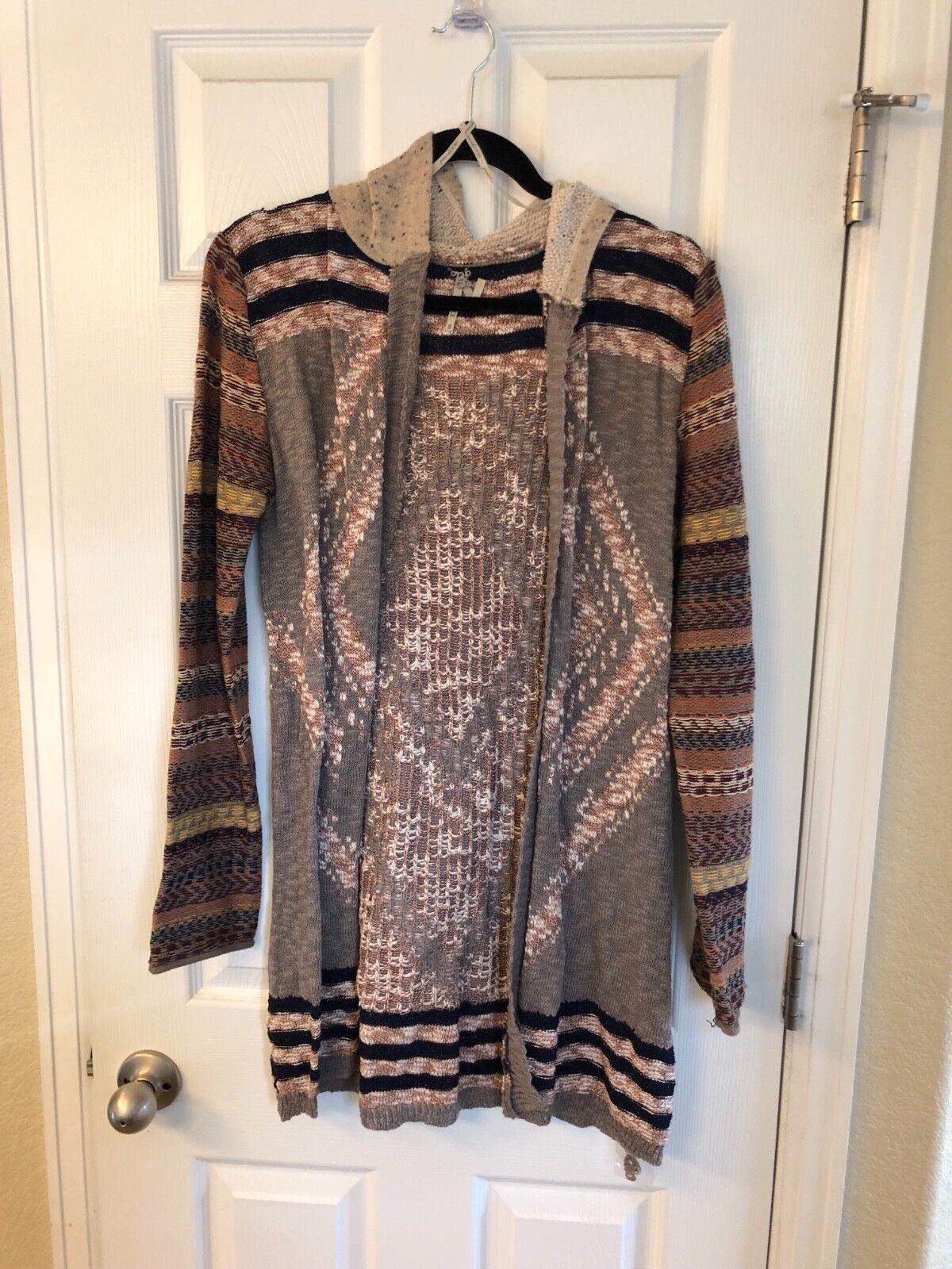 Gimmicks by BKE Aztec Cardigan Sweater Hooded Größe S
