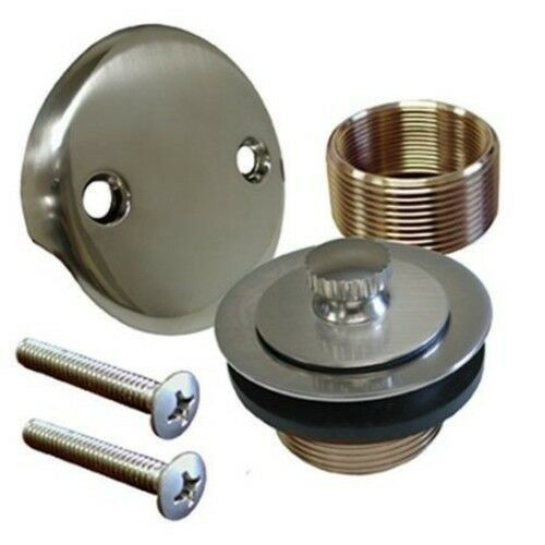 100/% Brass Lift and Turn Bathtub Drain Brushed Nickel Finish Vance Home Improvement Drain Conversion Kit Fits All Bathtub Sizes Tested for Quality in America Handyman Designed
