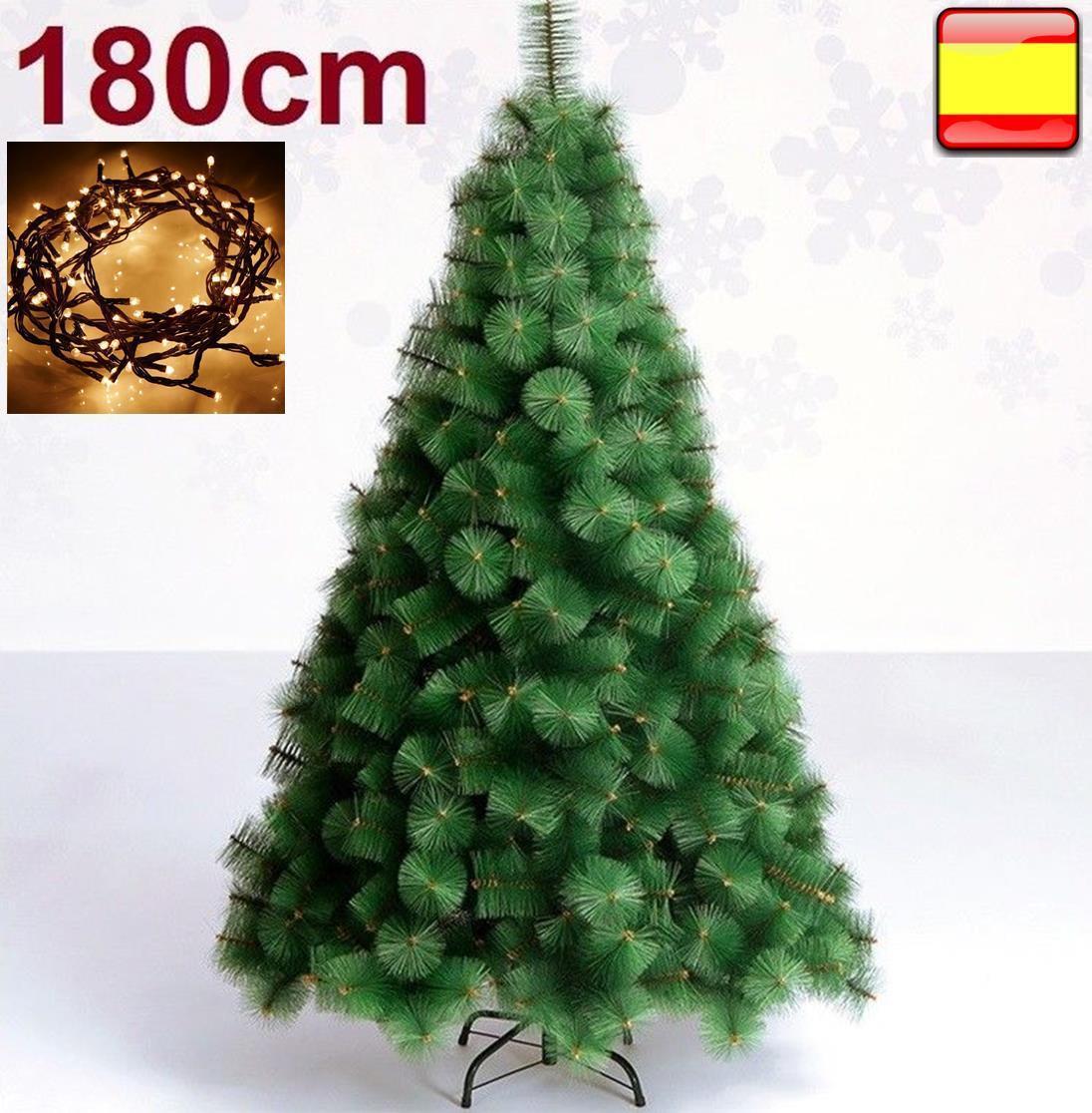 Arbol de navidad pino verde 1,80m metros 180cm + luz led 100...