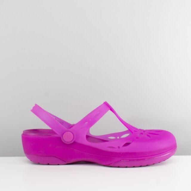 ed27caa57 Crocs CARLIE CUT OUT Ladies Womens Spring Summer Comfort TPU Clog Vibrant  Violet