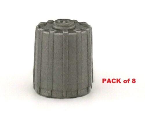 Grigio argento in plastica TPMS TAPPI VALVOLA PNEUMATICO Sensore Di Pressione sicuro BMW AUDI MERCEDES