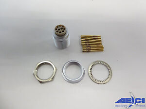 LEMO USA ECG.3B.310.CYM CONNECTOR KIT CONTAINING: (1) BODY, (1) TUBE OF WIRE END