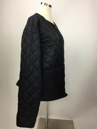 Collarless Jacket Quiltet Bauer Black Goose Down Xl Excellent Eddie fYqOFTwxnf