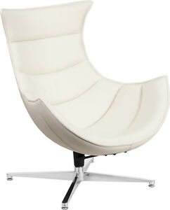 white swivel chair. Image Is Loading White-Leather-Swivel-Accent-Lounge-Cocoon-Chair-ZB- White Swivel Chair