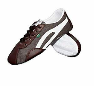 Details zu Taygra Brasilien Brown & Weiß Slim Sneakers Flexibel & Licht Schuhe Größe 36