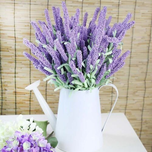 12 Heads Lavender Bouquet  Wedding Silk Flowers High Simulation Home Decoration//