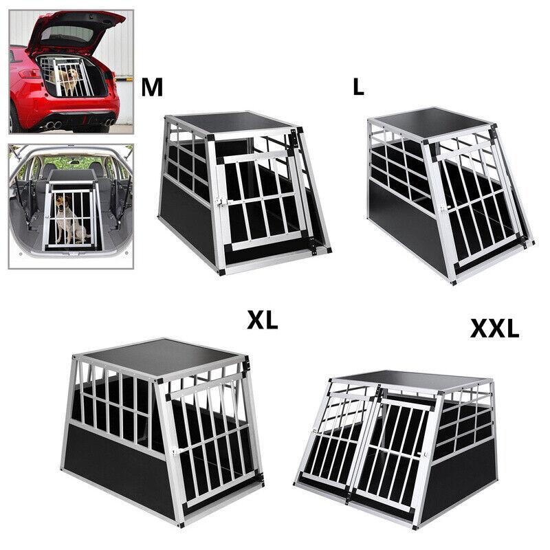 Alu Hundetransportbox Gute Belüftung Stabil bequem Transportbox Käfig
