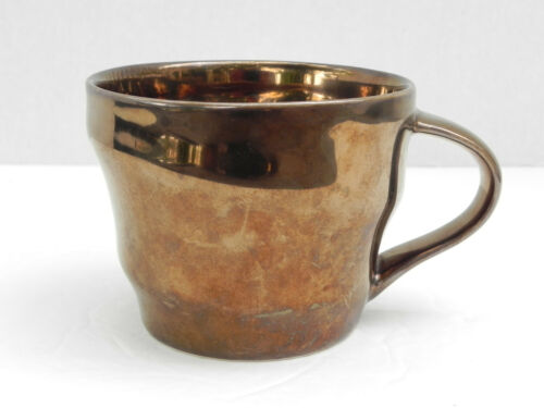 Starbucks Coffee Mug cup 12 oz Bronze Metallic Glaze Copper Swirl 2013