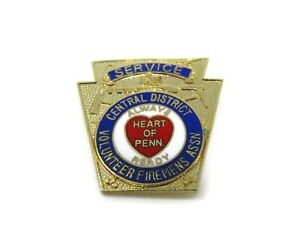 Volunteer Firemen's Association Pin Service Pennsylvania Central District