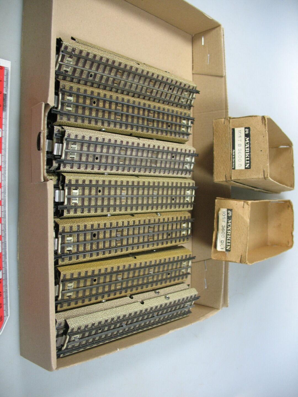 Ag367-2  35x   h0/ac pezzo di binario M-Binario dritto F. 3600/800 stanziamenti capo