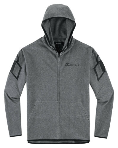 Icon OVERLORD Zip-Up Lightweight Shell Hoody Jacket Choose Size Charcoal Grey